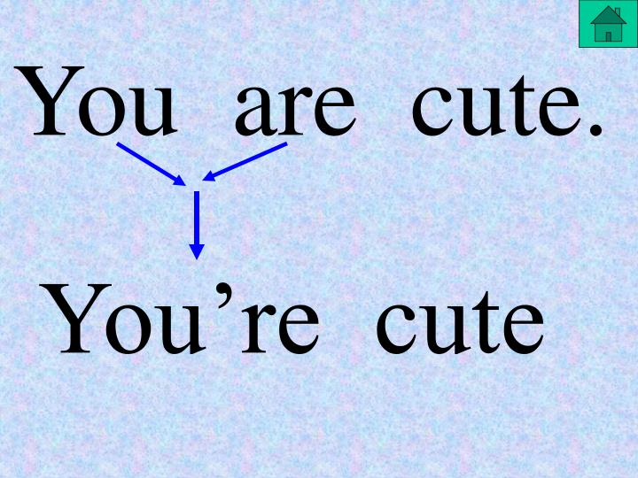 You  are  cute.