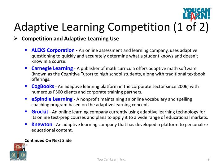 Adaptive Learning Competition (1 of 2)