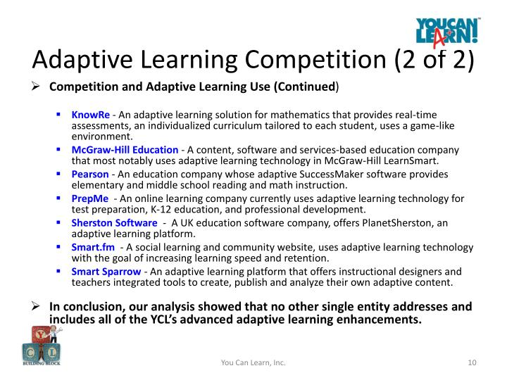Adaptive Learning Competition (2 of 2)
