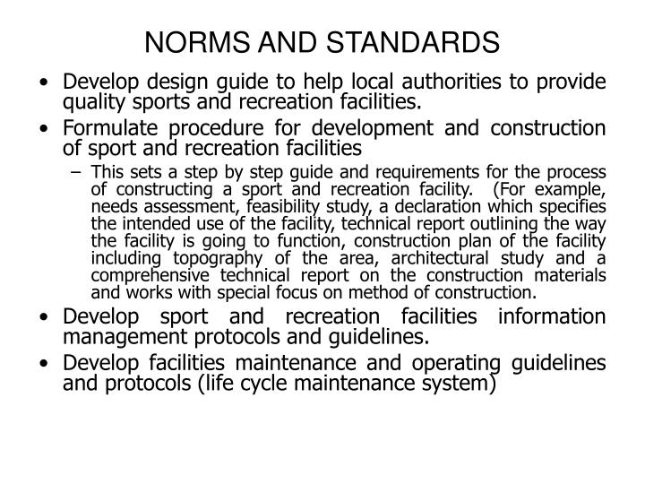 NORMS AND STANDARDS