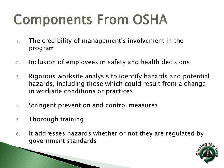 Components From OSHA