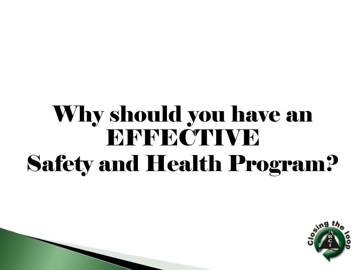 Why should you have an EFFECTIVE