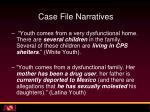 case file narratives2