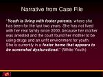 narrative from case file2