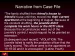 narrative from case file3