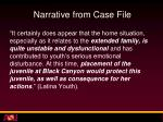 narrative from case file5