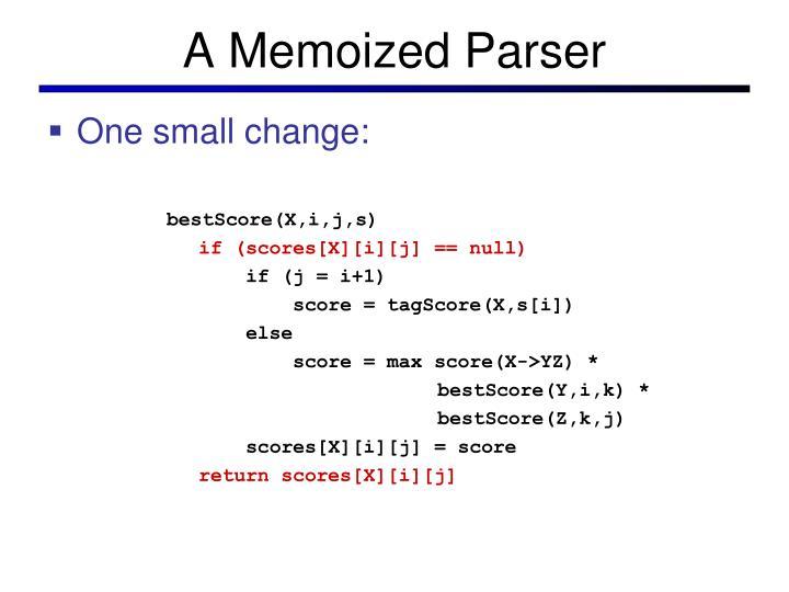 A Memoized Parser