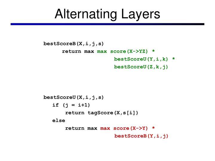 Alternating Layers