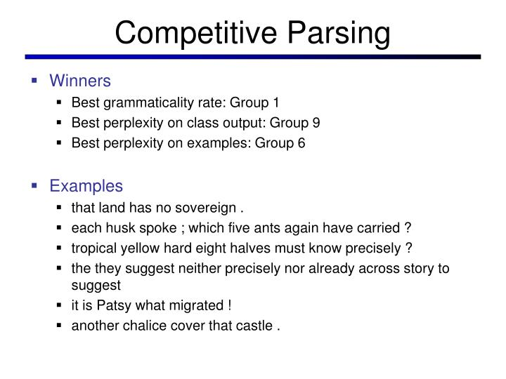 Competitive parsing1