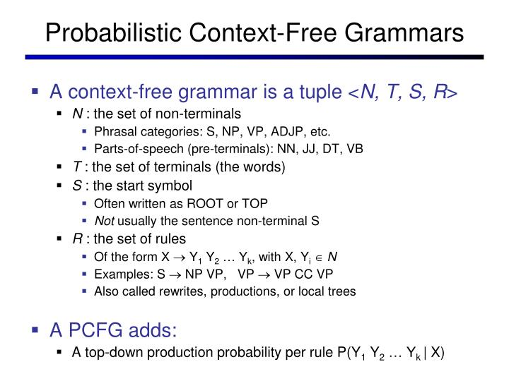 Probabilistic Context-Free Grammars