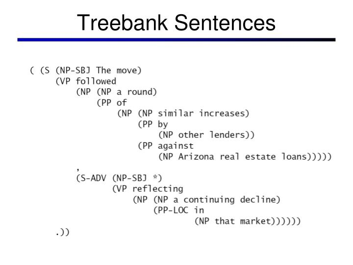 Treebank Sentences