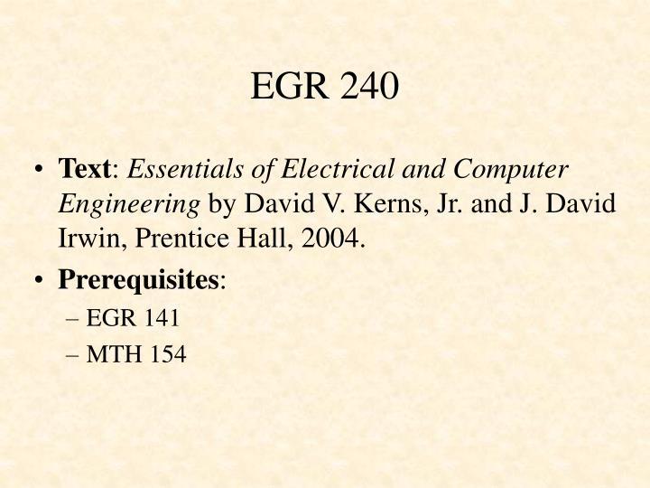 EGR 240