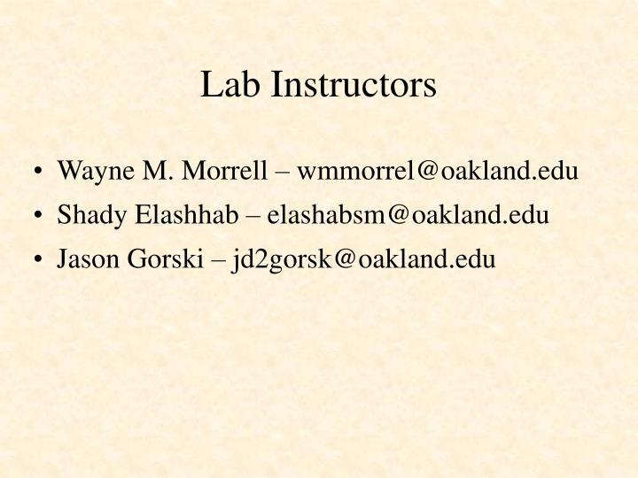Lab Instructors