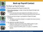 back up payroll contact