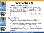 payroll contact dos
