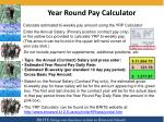 year round pay calculator