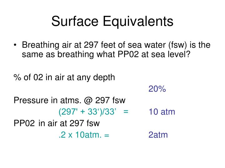 Surface Equivalents