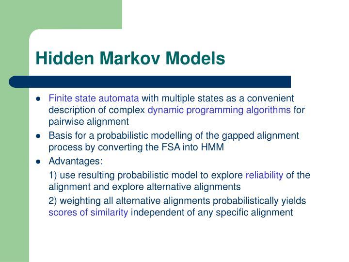 Hidden markov models1
