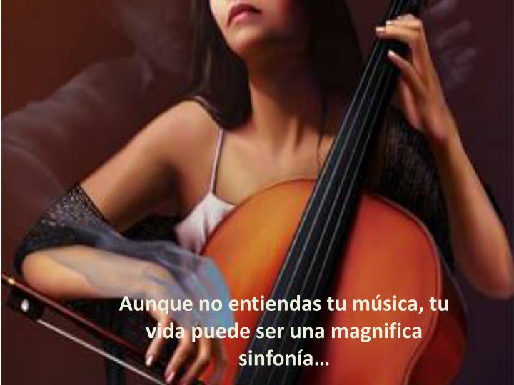 Aunque no entiendas tu música, tu vida puede ser una magnifica sinfonía…