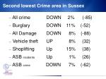 second lowest crime area in sussex