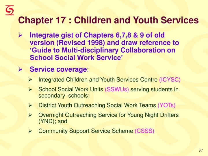 Chapter 17 : Children and Youth Services