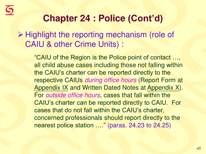 Chapter 24 : Police