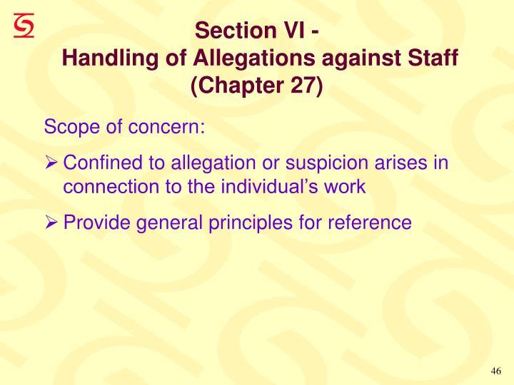 Section VI -