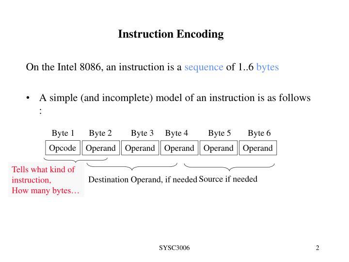 Instruction encoding1