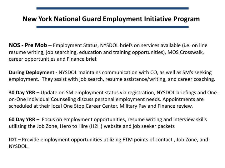New York National Guard Employment Initiative Program