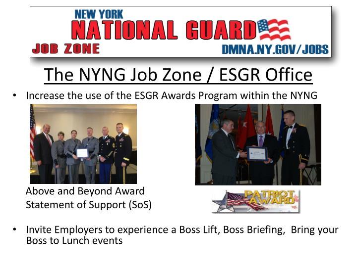 The NYNG Job Zone / ESGR Office