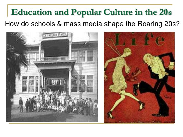 mass media and popular american culture Popular culture and the mass media have a symbiotic relationship: media culture, in its mass marketing, has been compared to the role of religions in the past.