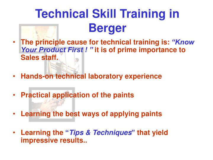 Technical Skill Training in Berger