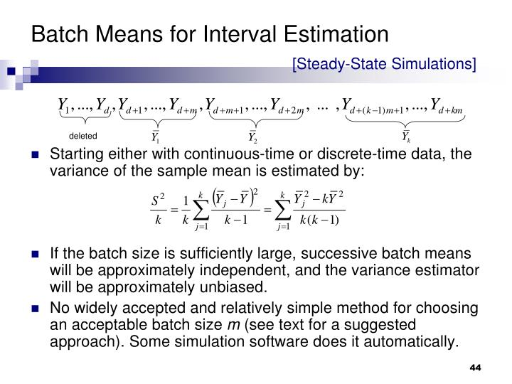 Batch Means for Interval Estimation