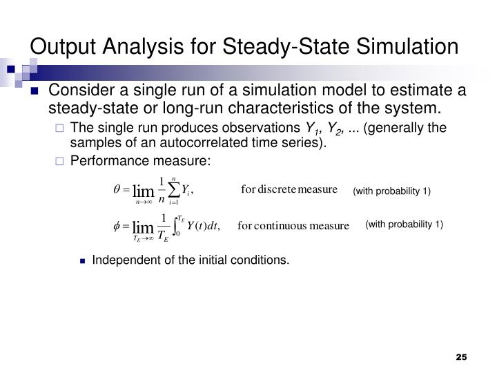 Output Analysis for Steady-State Simulation