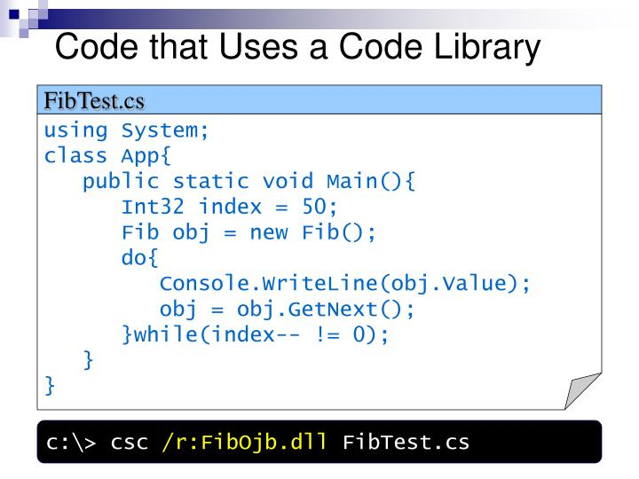 Code that Uses a Code Library