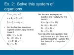 ex 2 solve this system of equations