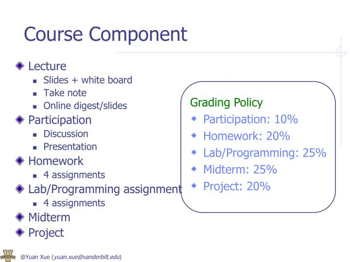 Course Component