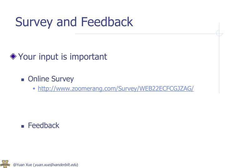 Survey and Feedback