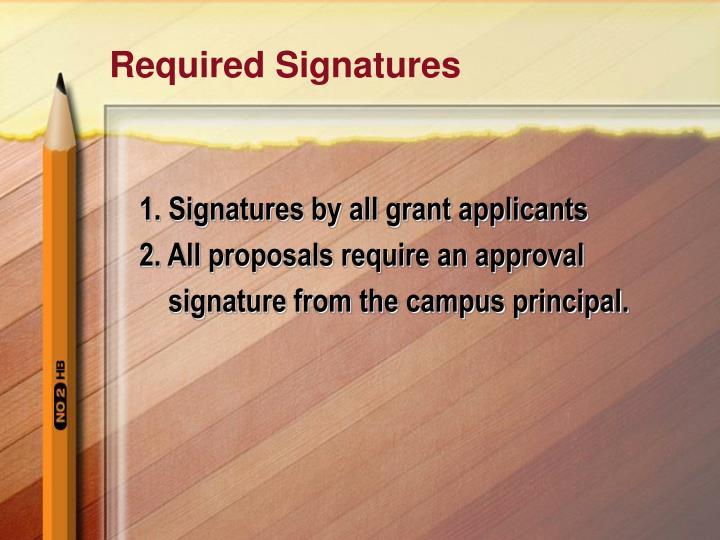 Required Signatures