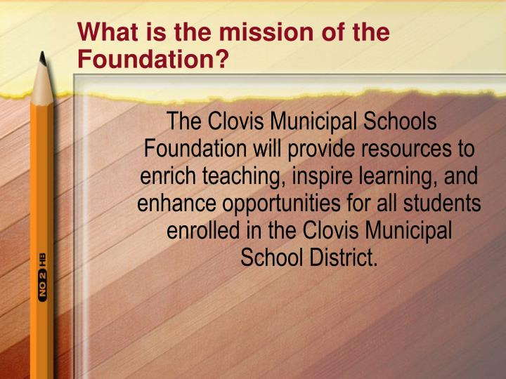 What is the mission of the Foundation?