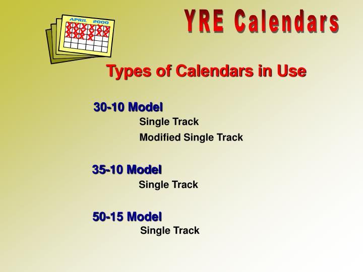 YRE Calendars