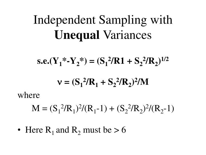Independent Sampling with