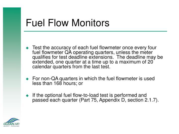 Fuel Flow Monitors