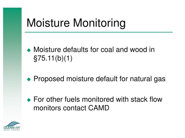 Moisture Monitoring