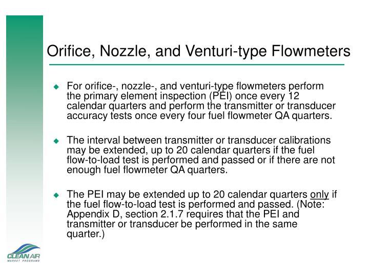 Orifice, Nozzle, and Venturi-type Flowmeters