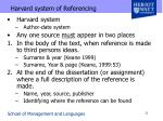 harvard system of referencing