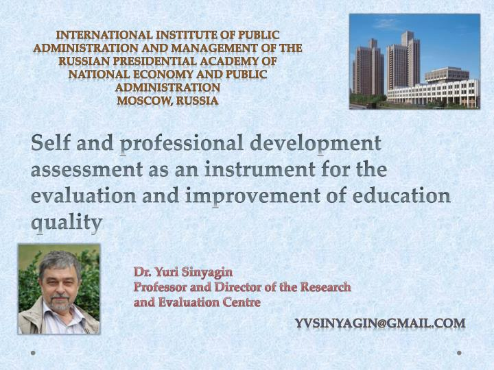 International Institute of Public Administration and Management of The Russian Presidential Academy ...