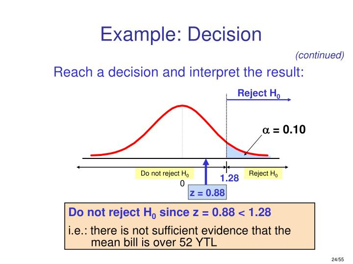 Example: Decision