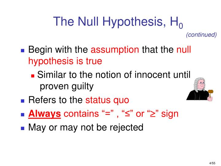 The Null Hypothesis, H