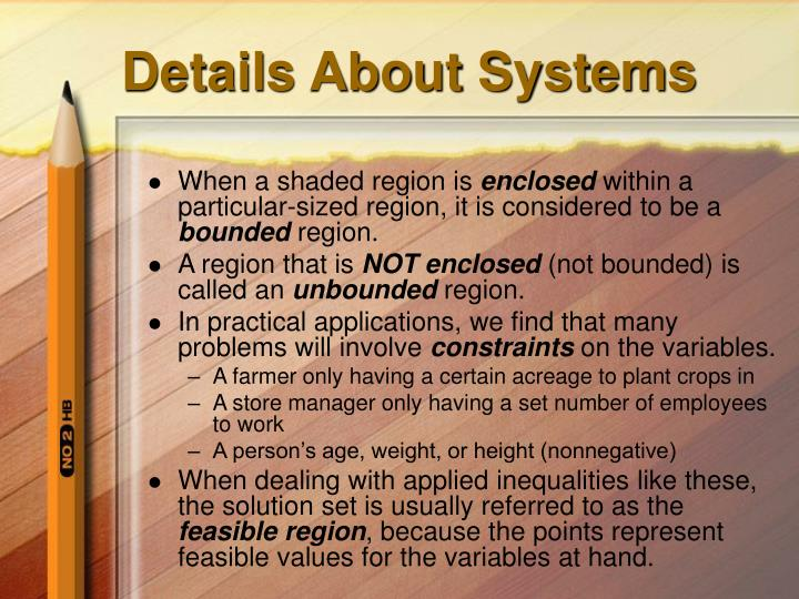 Details About Systems